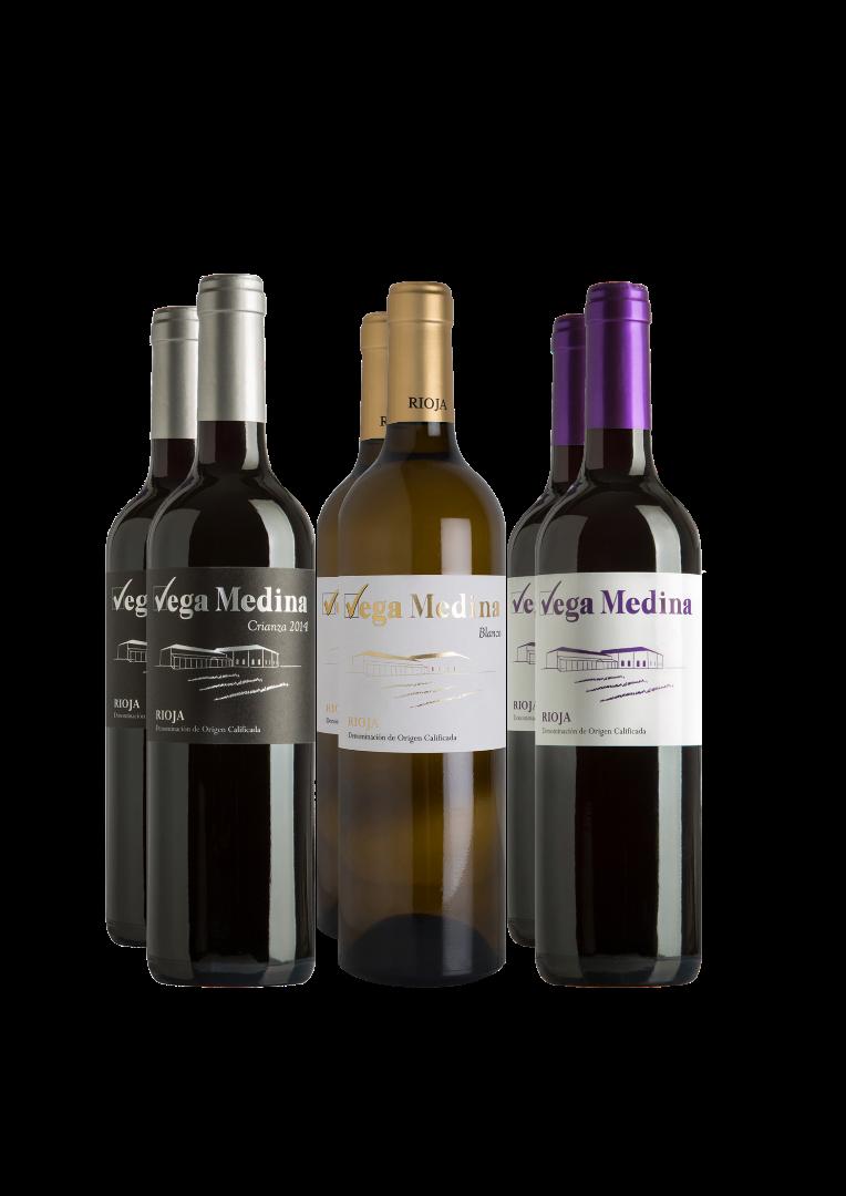 Lote Vega Medina Rioja. 6 botellas