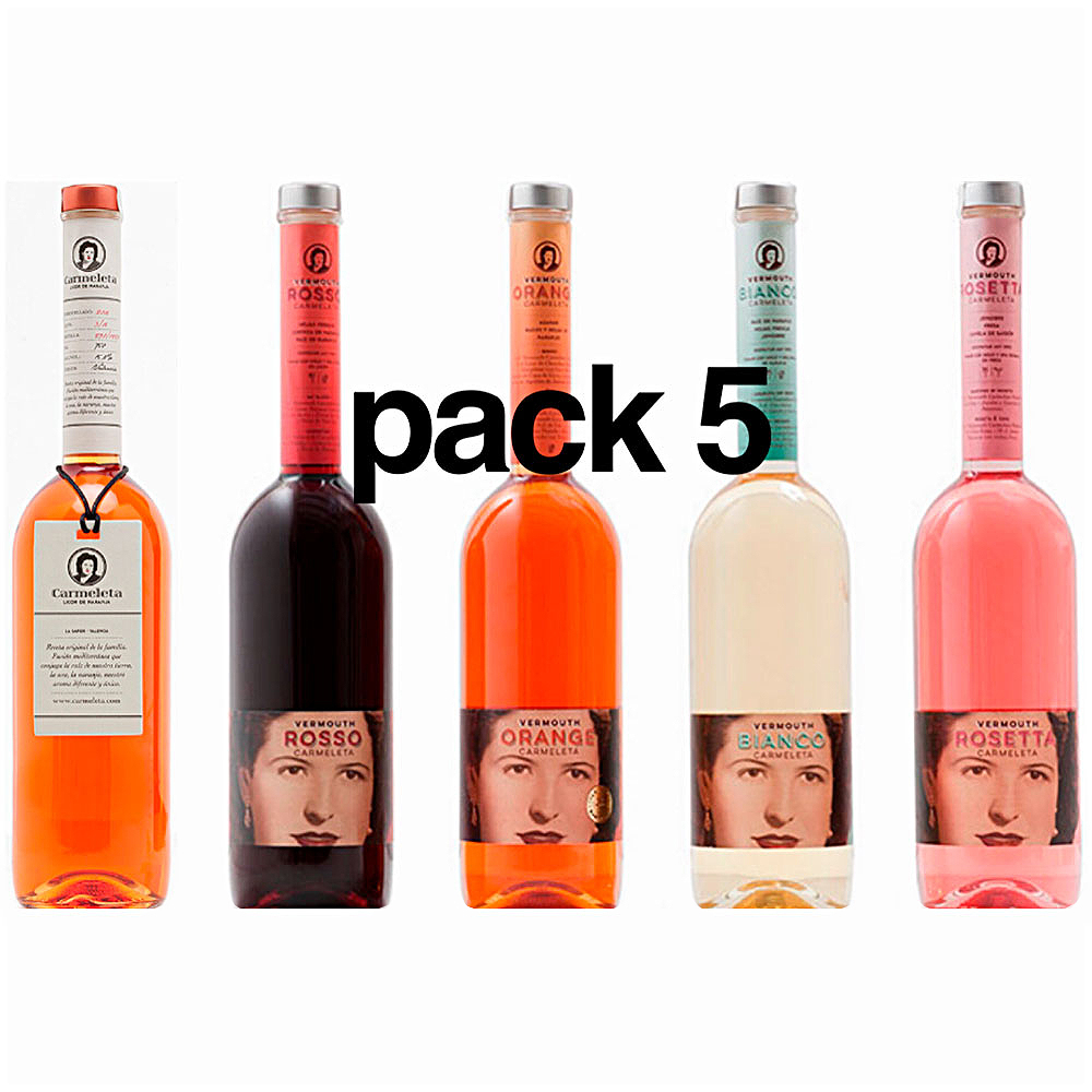 Carmeleta Liquor Pack and 4 Vermouths 75 cl.