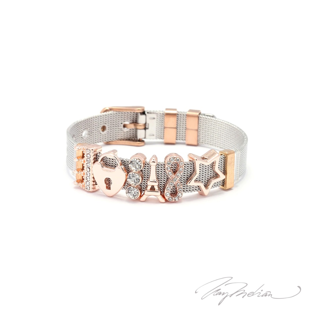 Creadiva ALCORSUERTE Steel Bracelet from the Corona Gold Bathed Cartier Collection