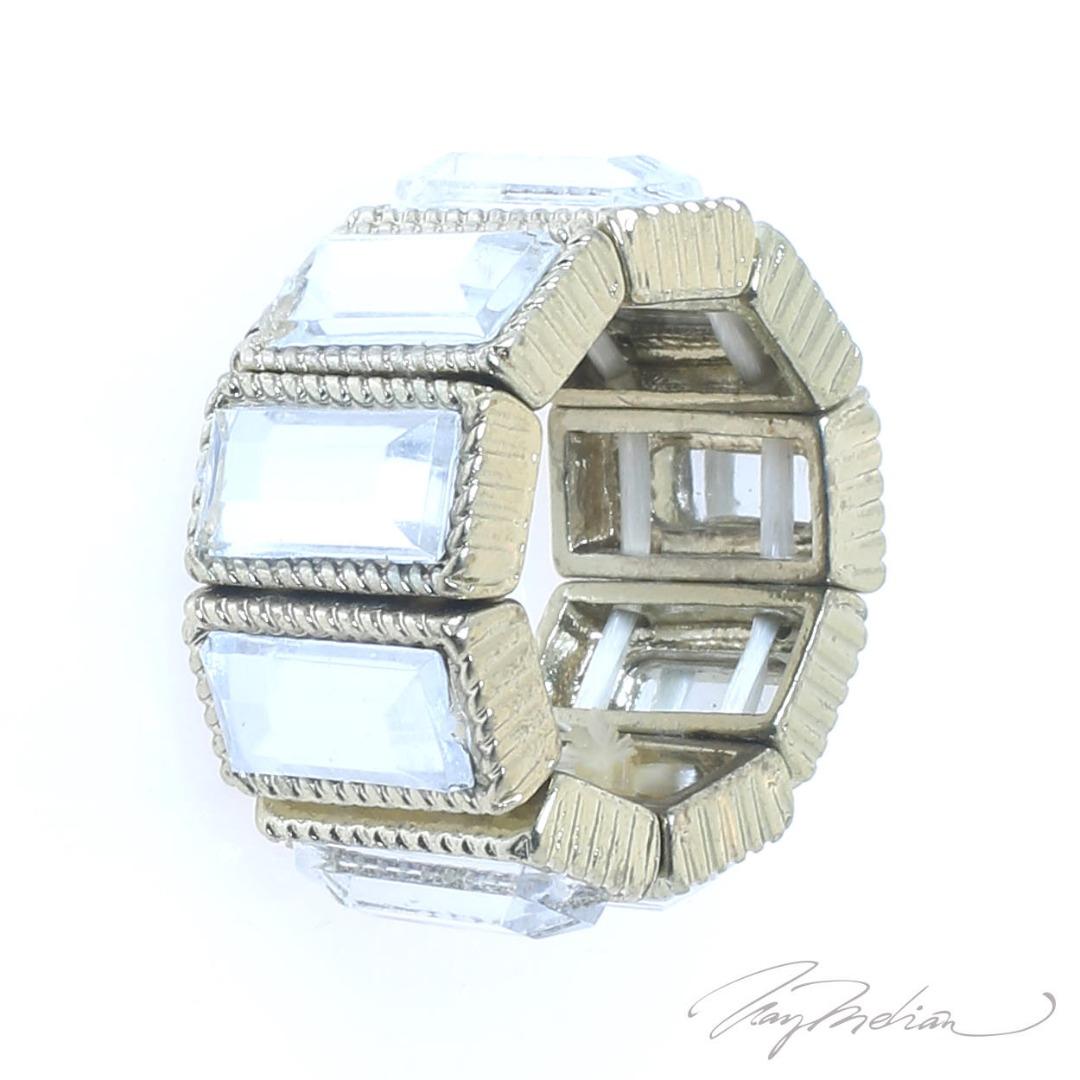 Creadiva Satin CRISREC Gold Design Ring from corona collection