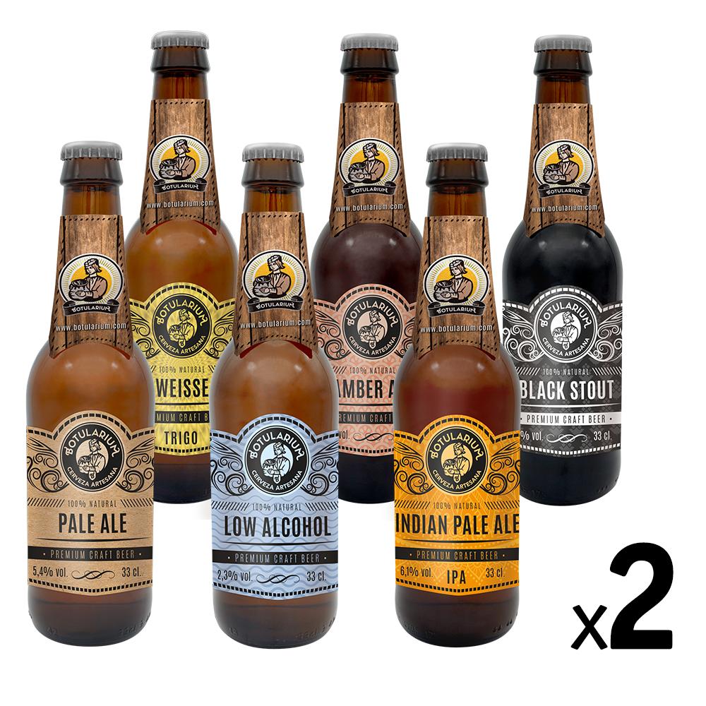 Cerveza Artesana Botularium Variada: 2 unidades de 6 cervezas distintas