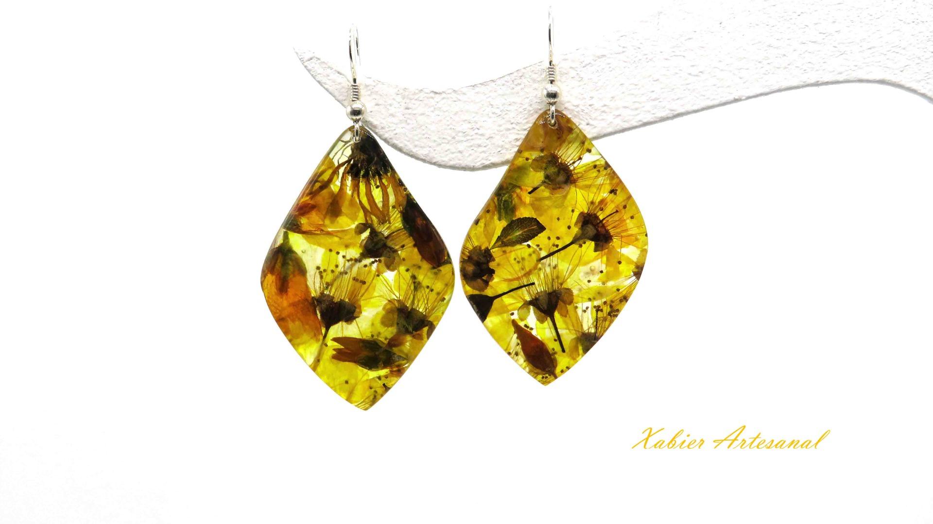 Pendientes Leaf Botichi Yellow