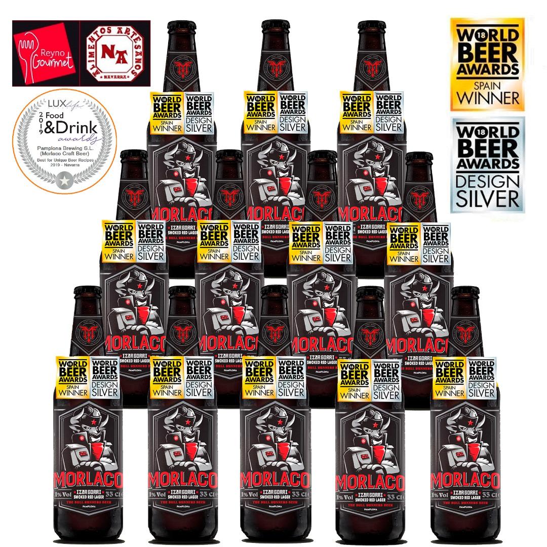 Cerveza Artesana Morlaco Beer Izar Gorri Beer 12x0.33cl
