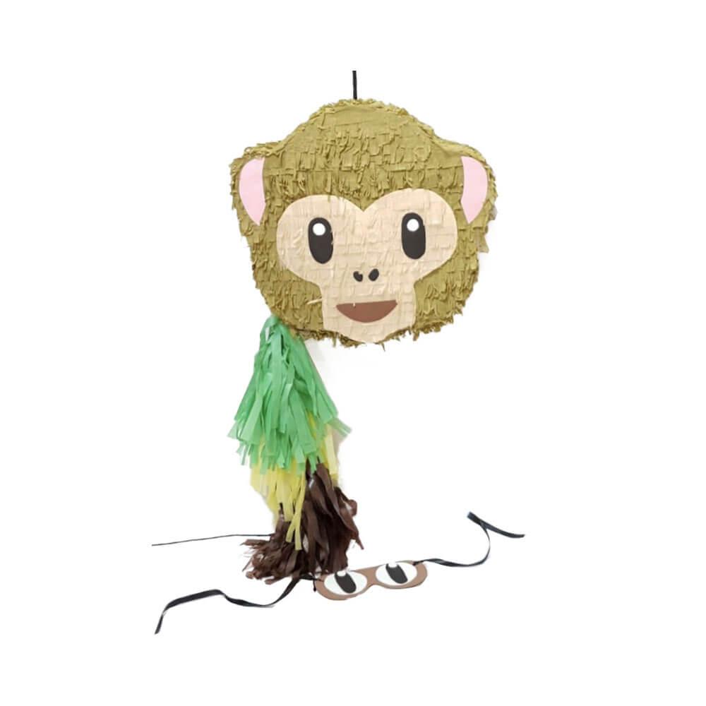 Piñata emoticono mono