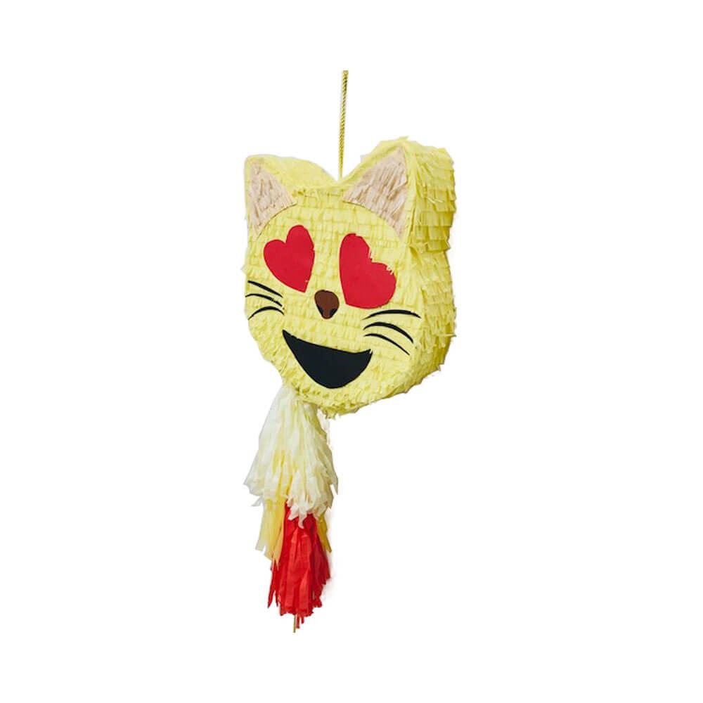 Piñata emoticono gato