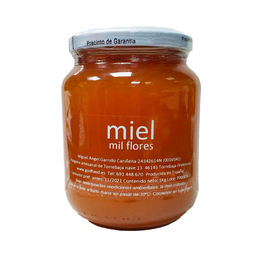 Miel cruda de Milflores - Tarro de 1 Kg