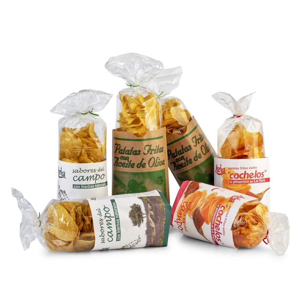 Lote Patatas Fritas - 2 Oliva + 2 Cachelo + 2 Hierbas