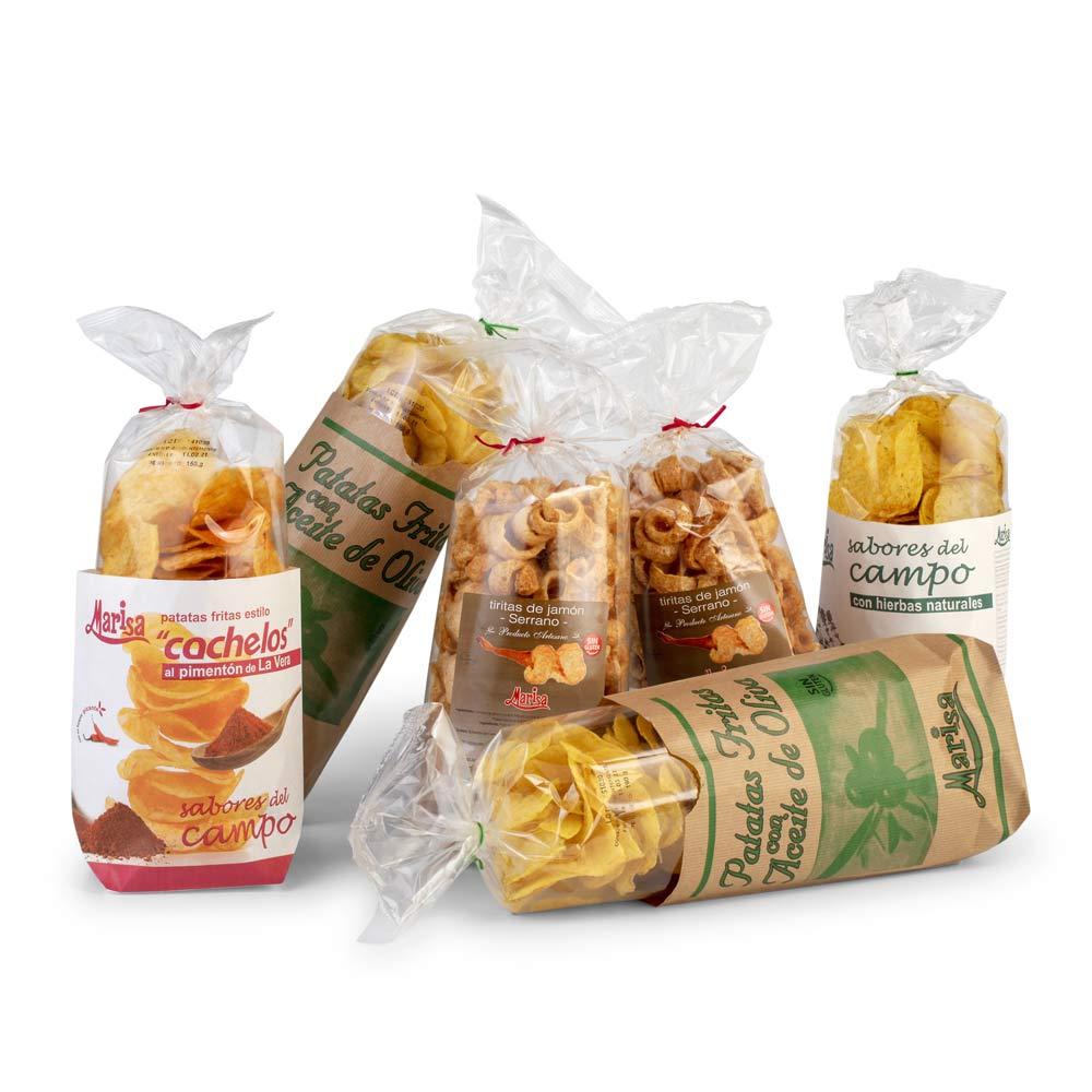 Lote Patatas - 2 Tiras de Jamón + 2 Patatas Oliva + 1 Patatas Cachelo + 1 Patatas Hierbas