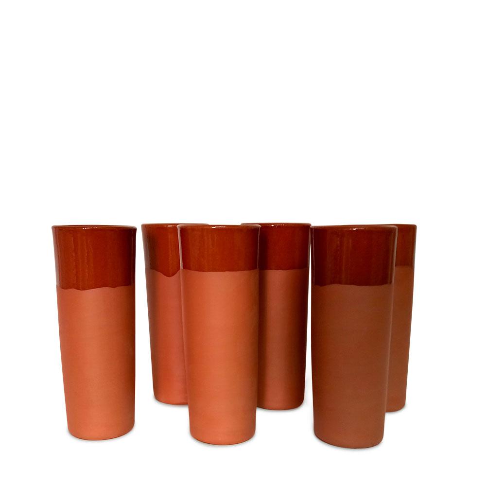 Lote 6 vasos de tubo
