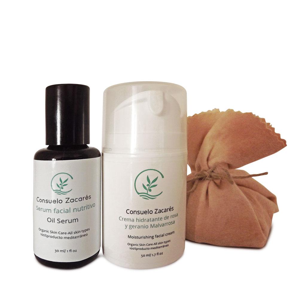 Pack regalo tratamiento facial completo - Crema Facial + Sérum + Jabón de limpieza diaria