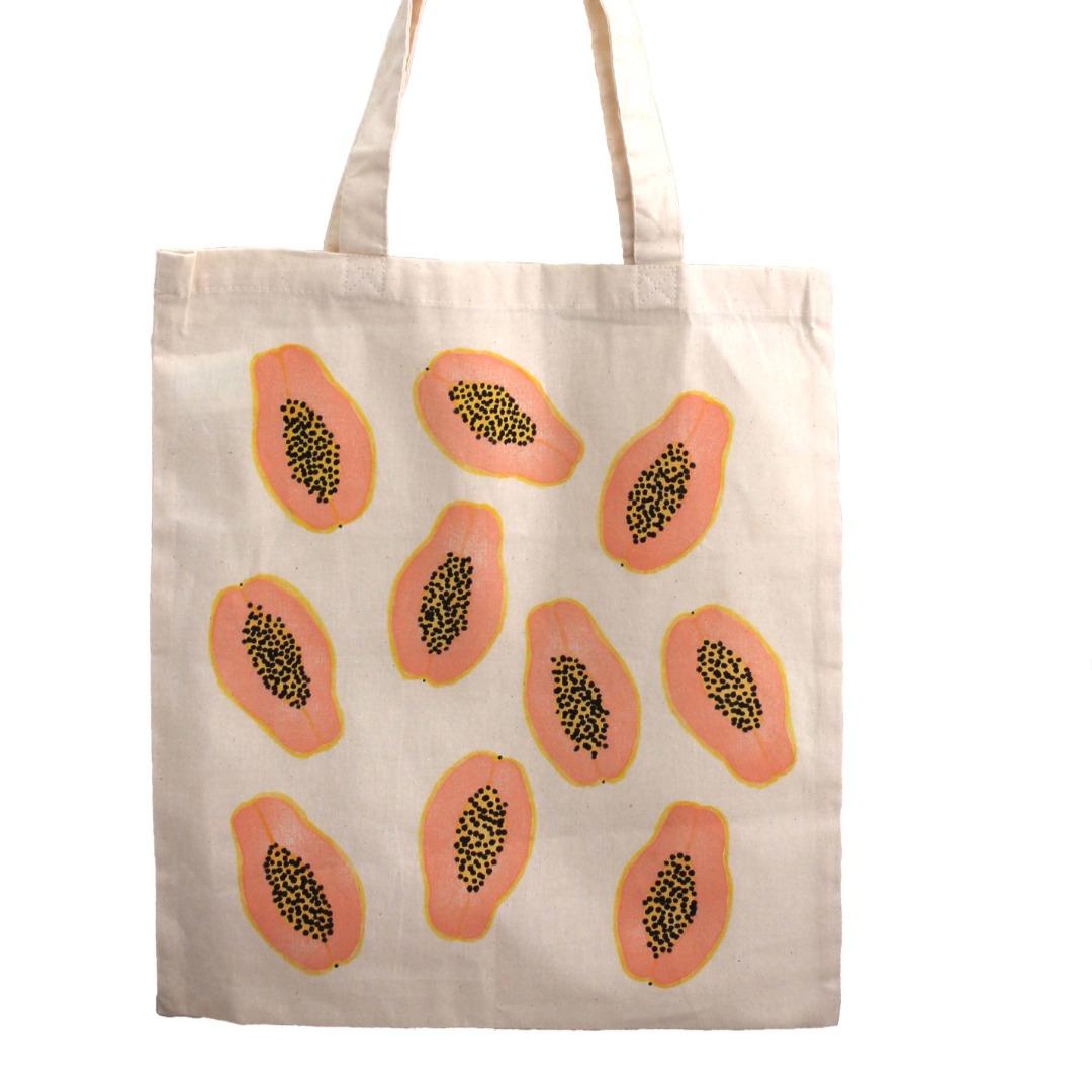 bolso tote algodón papaya