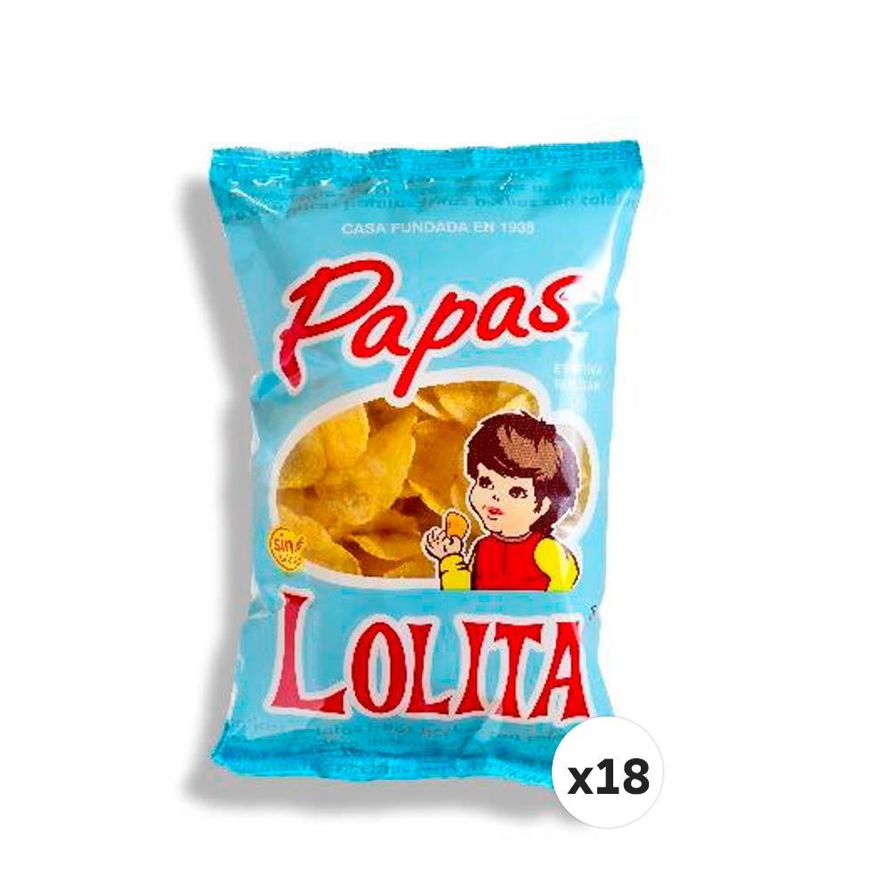 PAPAS LOLITA 150 G (CAJA DE 18 UNIDADES)
