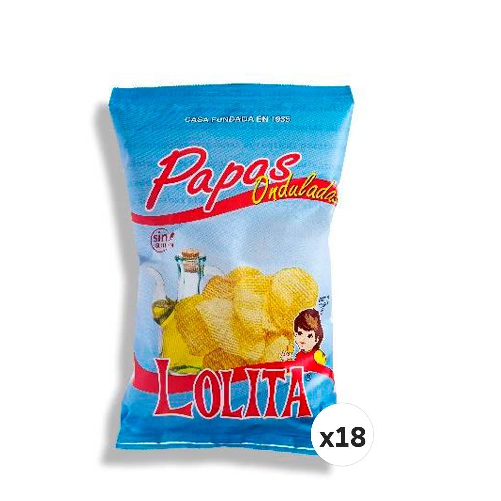 PAPAS LOLITA ONDULADAS 145 G (CAJA DE 18 UNIDADES)