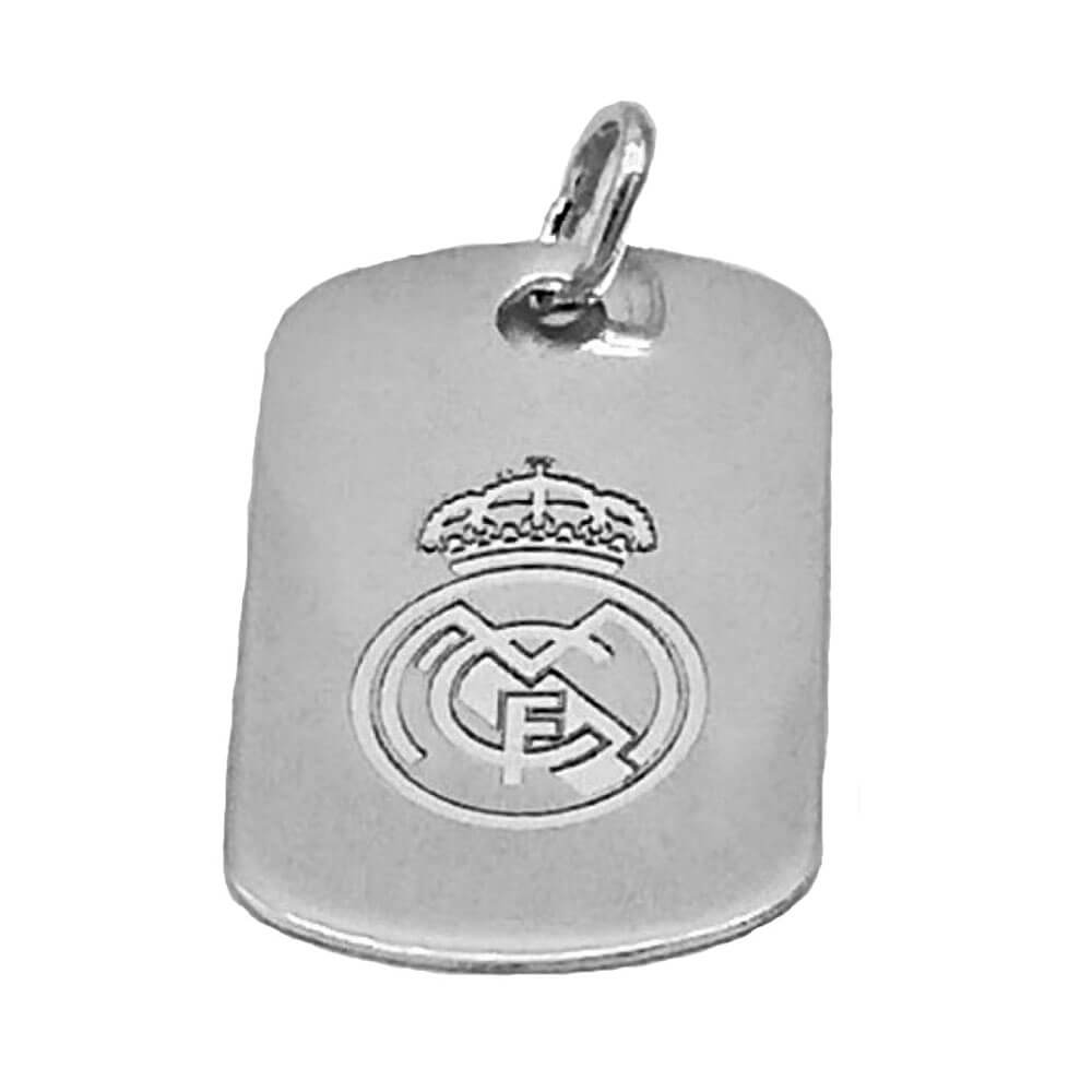 Chapa Militar Real Madrid Plata de Ley