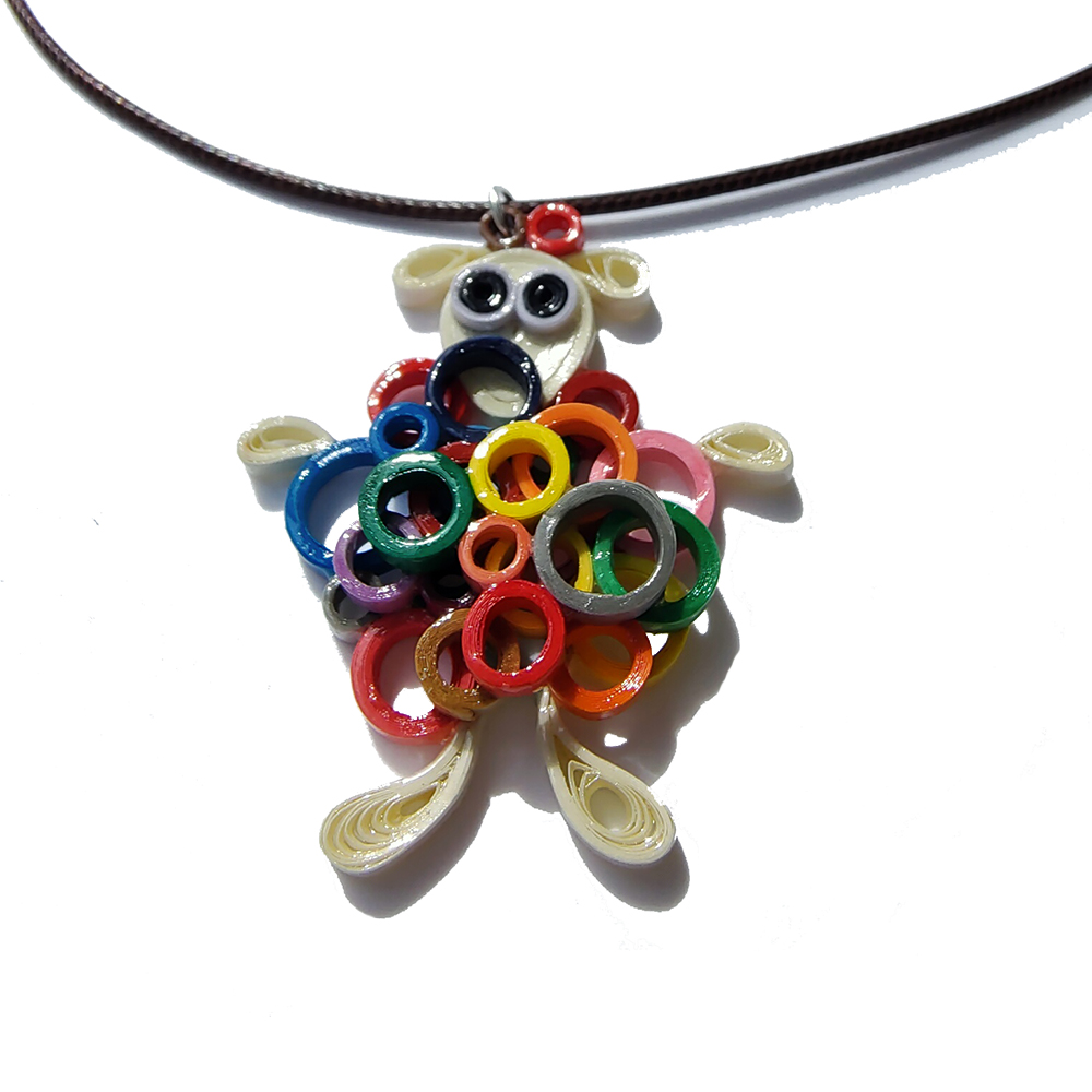 Mil Cositos Beige Sheep Necklace