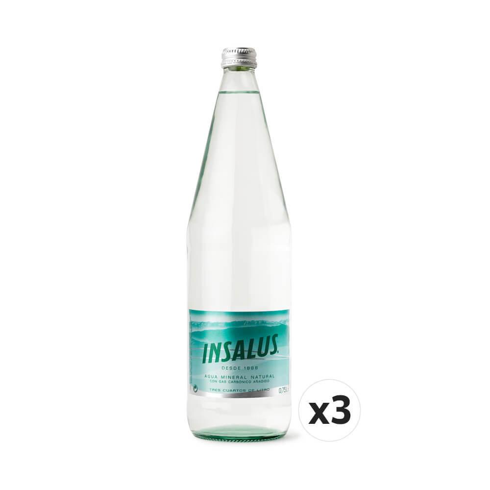 Botellas Agua Mineral con gas - 3 x 0,75 L