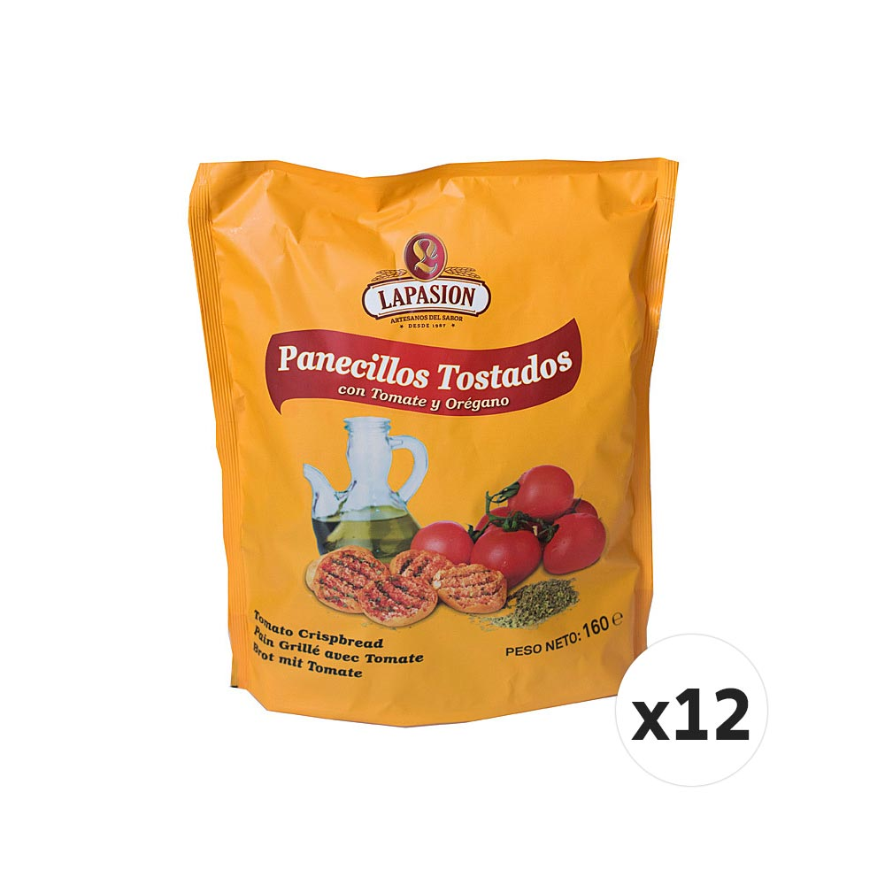Panecillos tostados con tomate y orégano - 12 x 160 g
