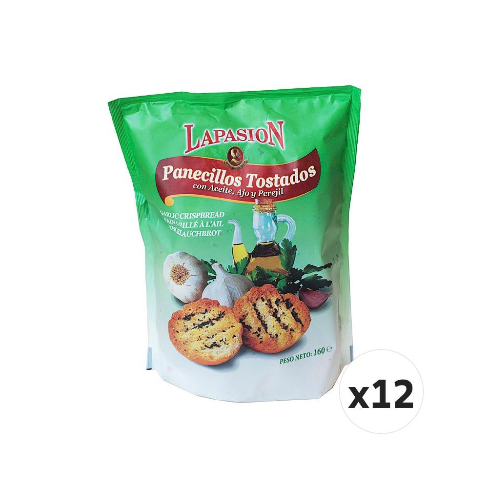 Panecillos tostados con aceite, ajo y perejil - 12 x 160 g