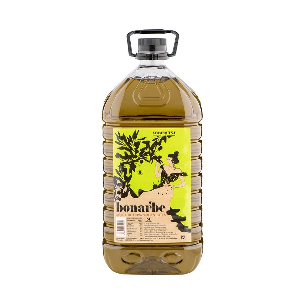 Aceite de Oliva Virgen Extra Arbequina - Caja de 3 garrafas de 5 litros