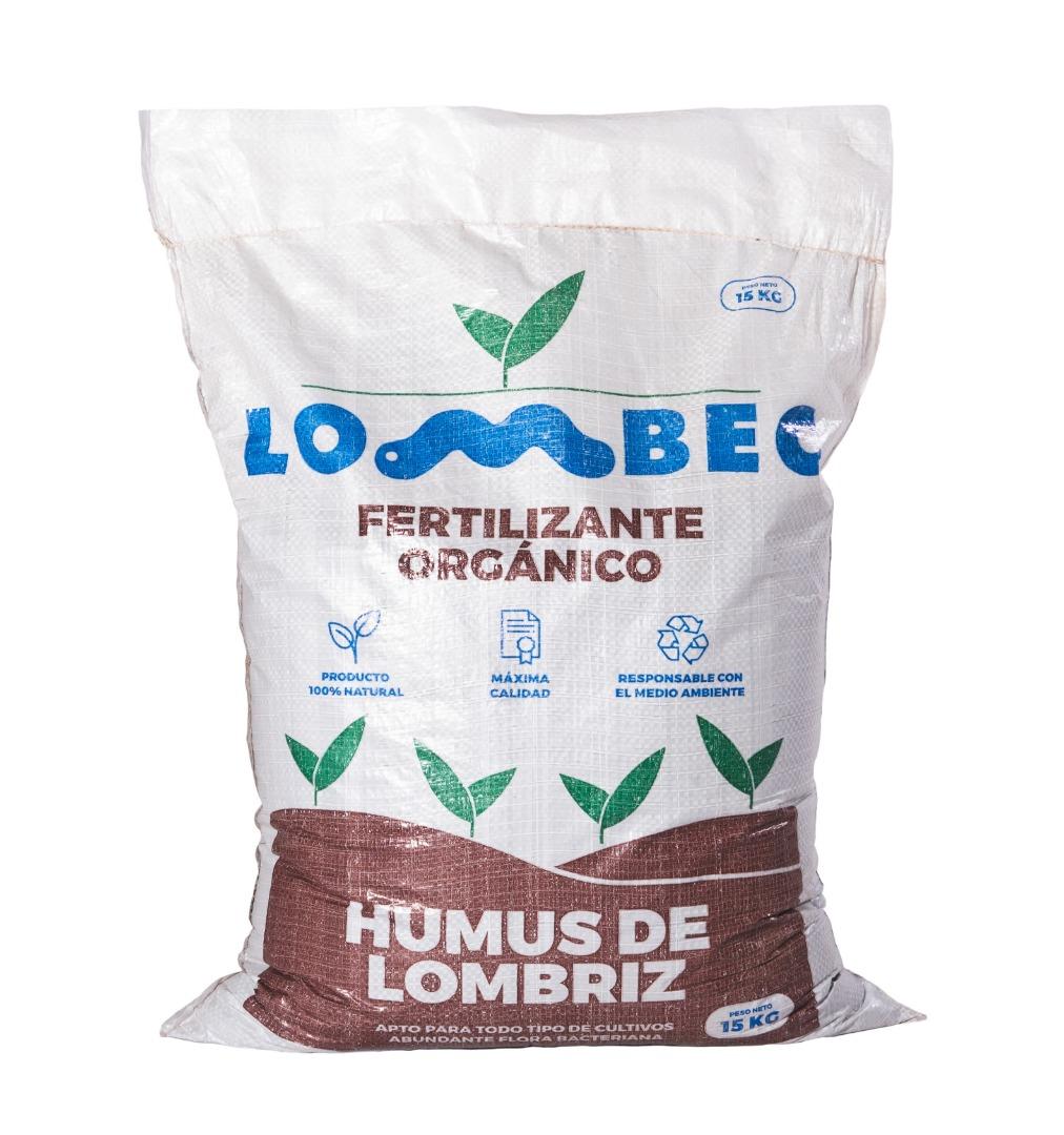 Abono orgánico para huerto y jardín – Saco de 15KG (25L) de Humus de Lombriz LOMBEC