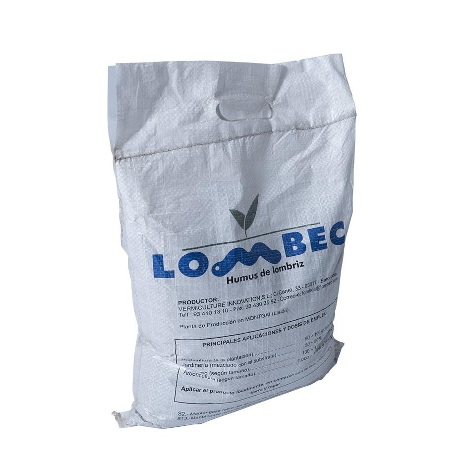 Abono orgánico para huerto y jardín – Saco de 4KG (6L) de Humus de Lombriz LOMBEC