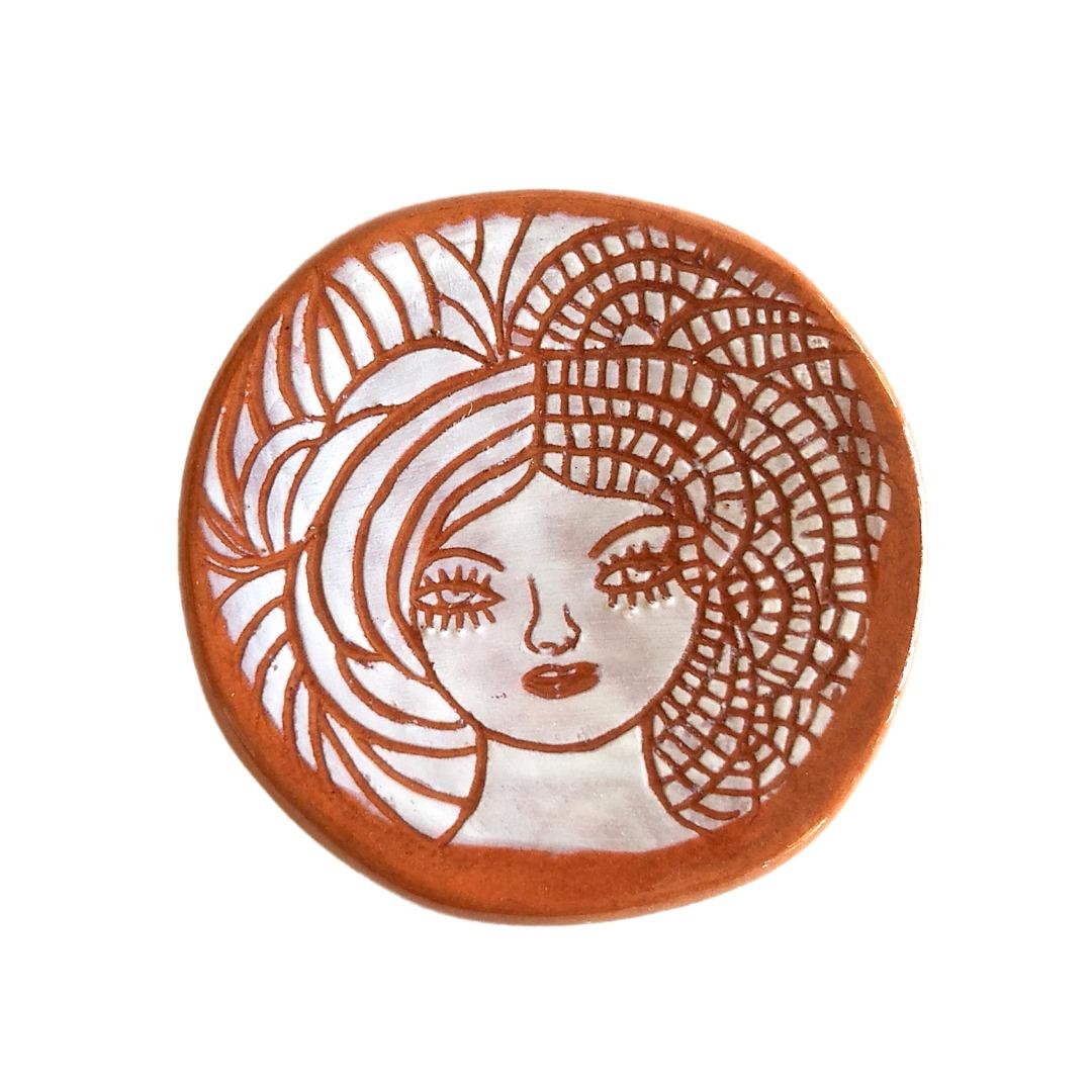Plato pequeño de cerámica Medusa