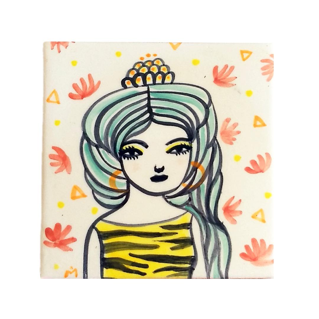 Monica Moreno Art Little Tile Goddess Freya