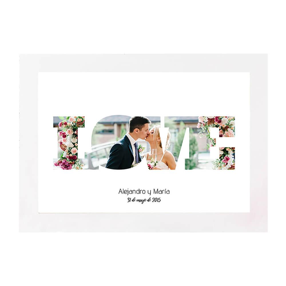 Lámina DIN A4 Celebraciones - Love