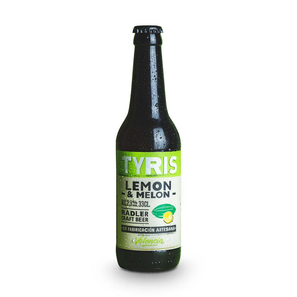 Tyris Radler Lemon & Melon - 12 botellas 33 cl