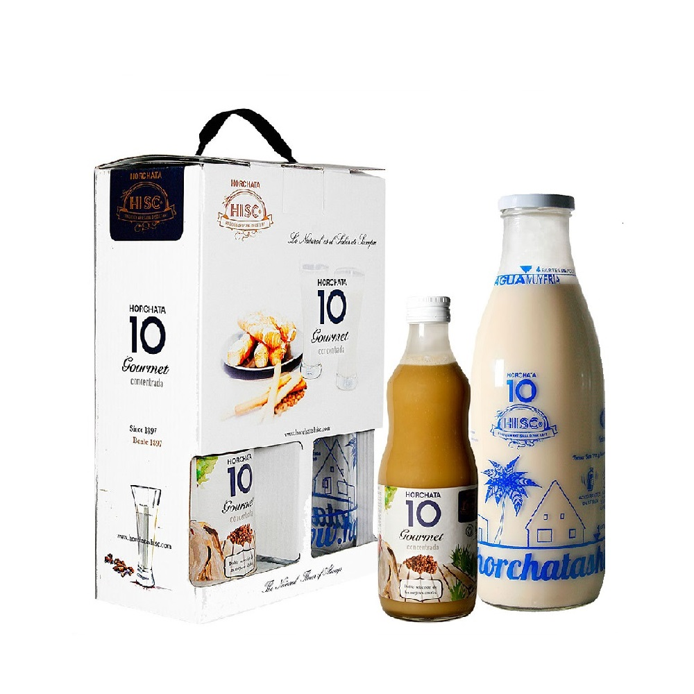 Pack Estuche: 3 Horchatas 10 Concentradas Gourmet 500 ml + Botella Medidora