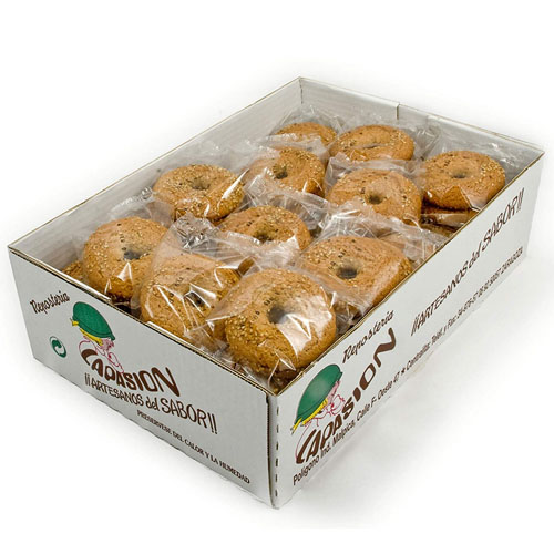 Oranxinas integrales con edulcorante, Sin Azúcares Añadidos, envueltas individualmente, caja de 1.5Kg