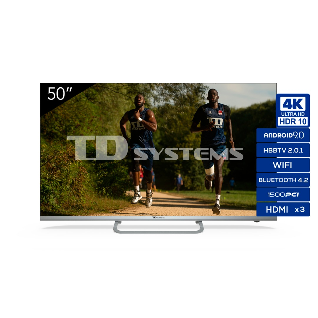"TV 50"" Led Ultra HD 4K Smart TD Systems K50DLJ11US"