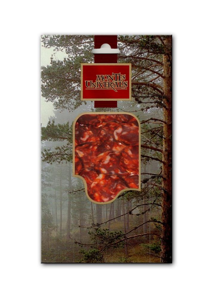 Chorizo Cular Ciervo Loncheado Montes Universales (100g)