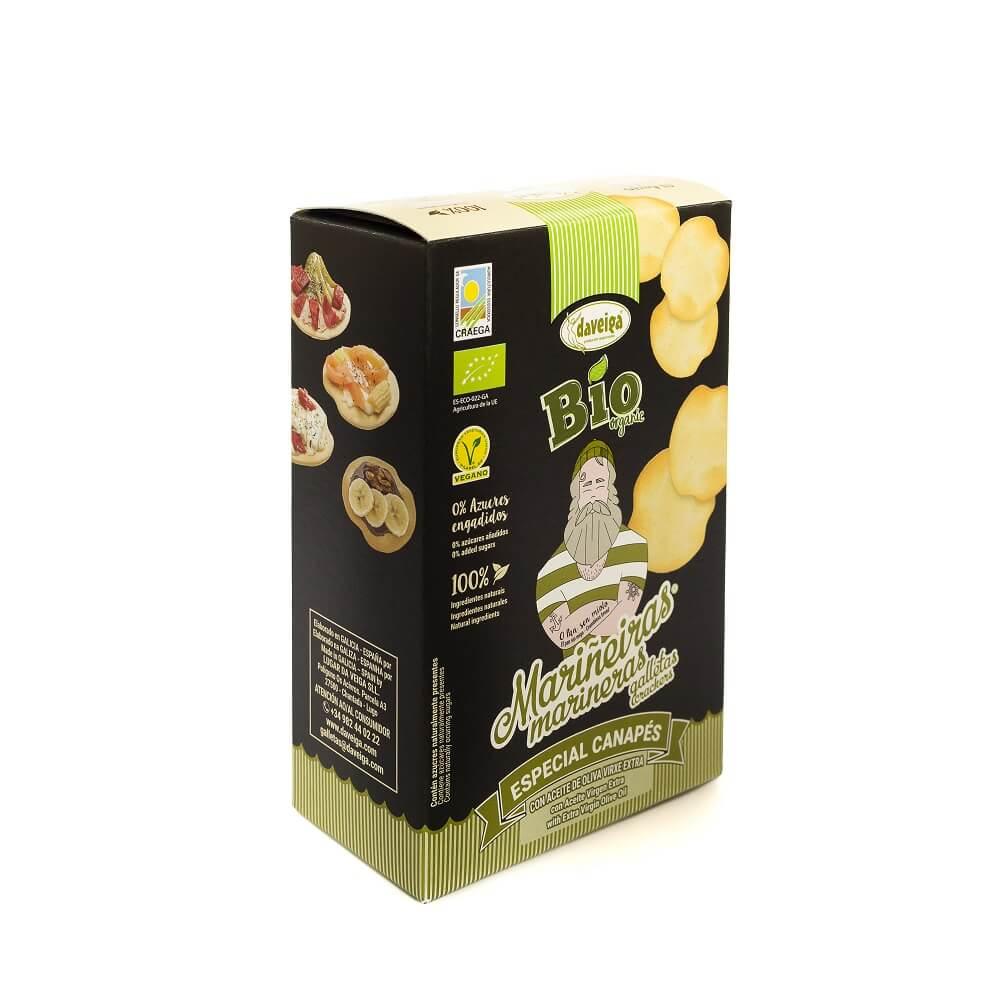 Galleta Marinera Bio Especial Canapé de Aceite de Oliva - Pack 14 x 100g