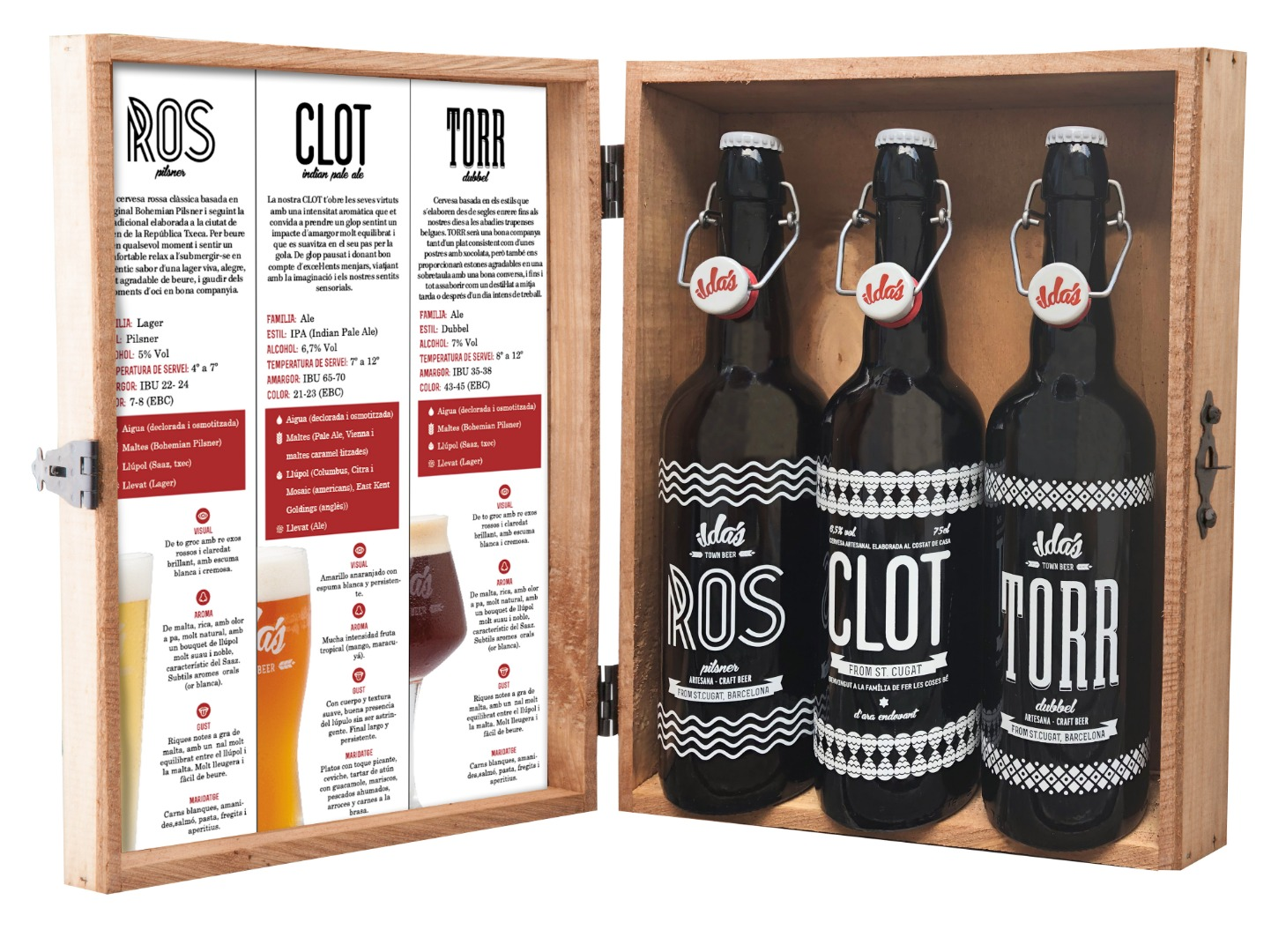 Selección PREMIUM de 3 cervezas (ROS - CLOT - TORR) de 75 cl.