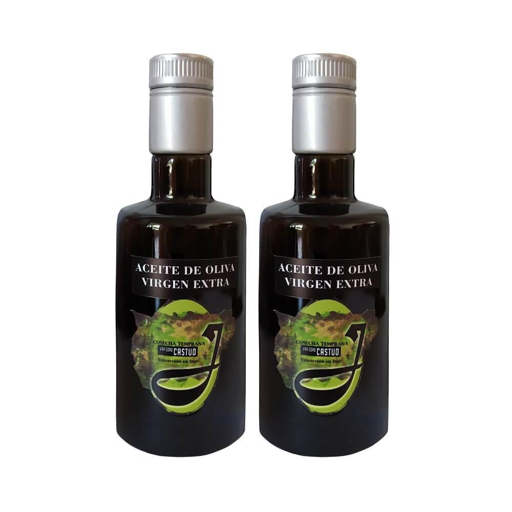 Aceite Oliva Virgen Extra de Cosecha Temprana - Pack de 2x500 ml en cristal negro