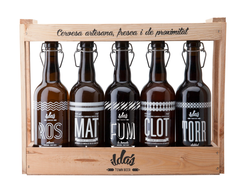Pack selección 5 cervezas (ROS - MAT - FUM - CLOT - TORR) de 75 cl.