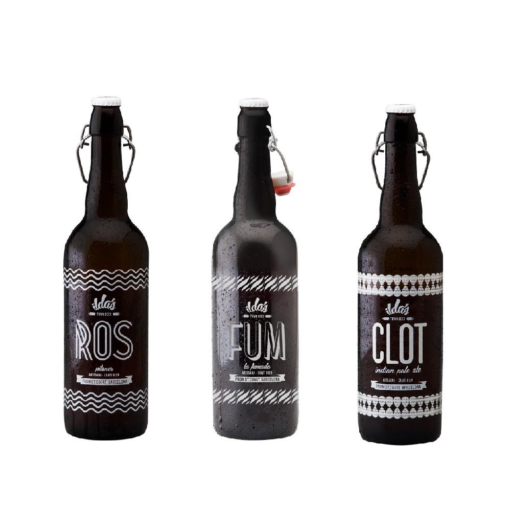 Selección variada de 6 Cervezas Ilda´s 2 ROS - 2 FUM - 2 CLOT de 75 cl