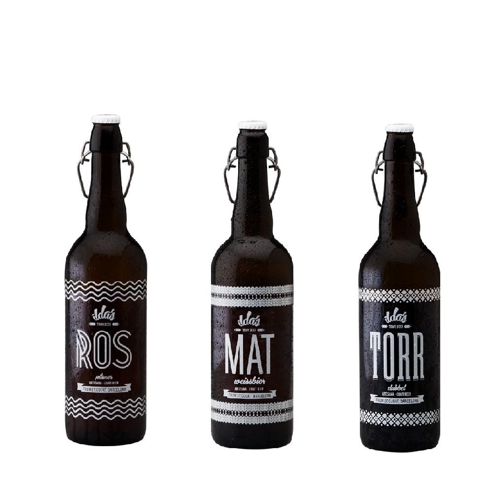 Selección variada 6 Cervezas Ilda´s 2 ROS - 2 MAT - 2 TORR de 75 cl
