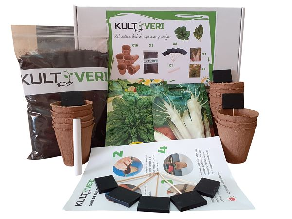Kultiveri Spinach and Chard Cultivation Set: Biodegradable Germination Pots