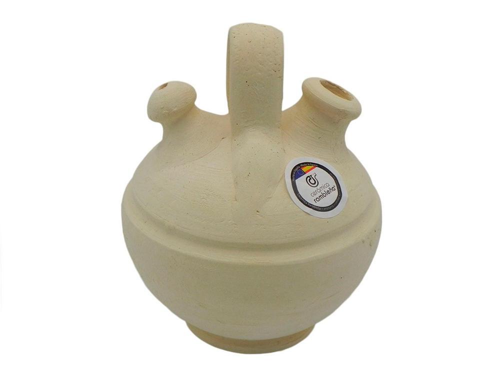 Botijo de barro infantil -  10x10x17 cm - 0.5 L