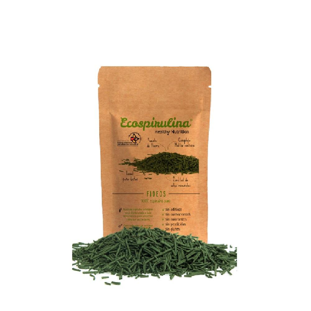 Espirulina 100% Pura en Fideos de Alta Calidad - Envase de 80 g