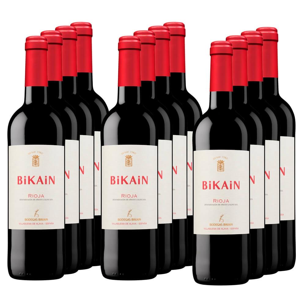 Caja 12 botellas de vino tinto DOC Rioja 2019 - 12 x 75 cl