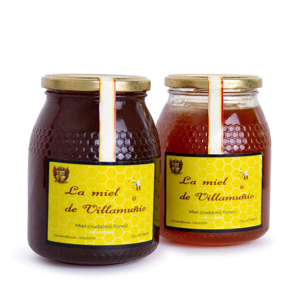 Pack de Miel - 1 bote de Miel de Roble 1 Kg + 1 bote de Miel Multifloral 1 Kg