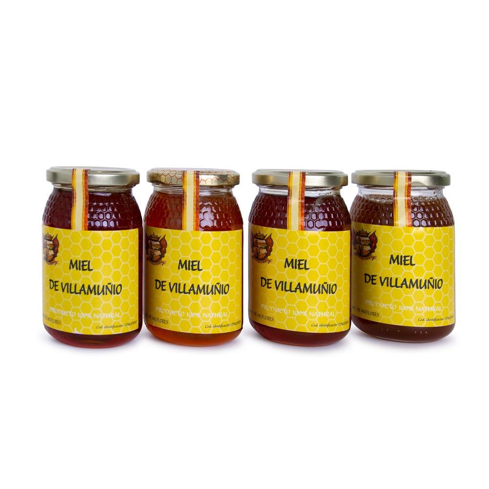 Pack de Miel - 4 botes de Miel de Roble y Miel de Milflores 4X500 g