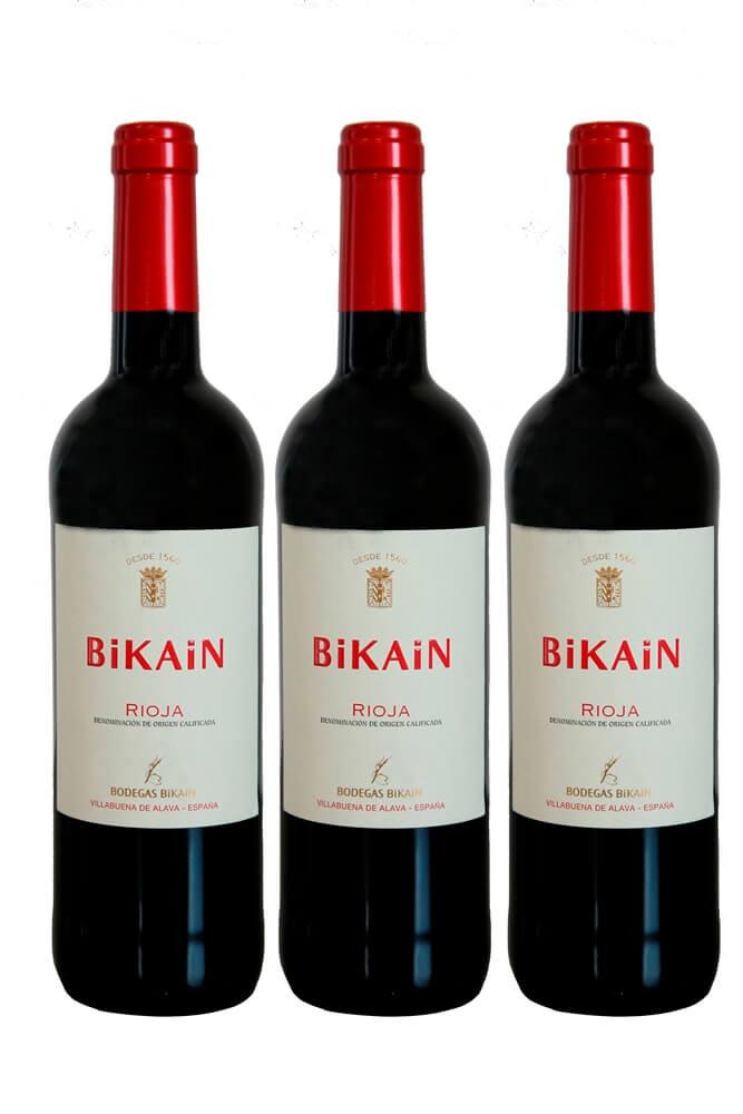 Estuche 3 botellas de vino tinto DOC Rioja 2019 - 3 x 75 cl