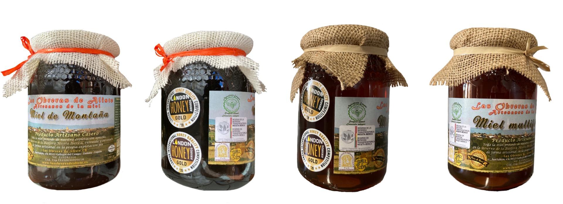 Pack Miel Multifloral y Miel de Montaña Botes 1/2 kg de Las Obreras de Aliste CB
