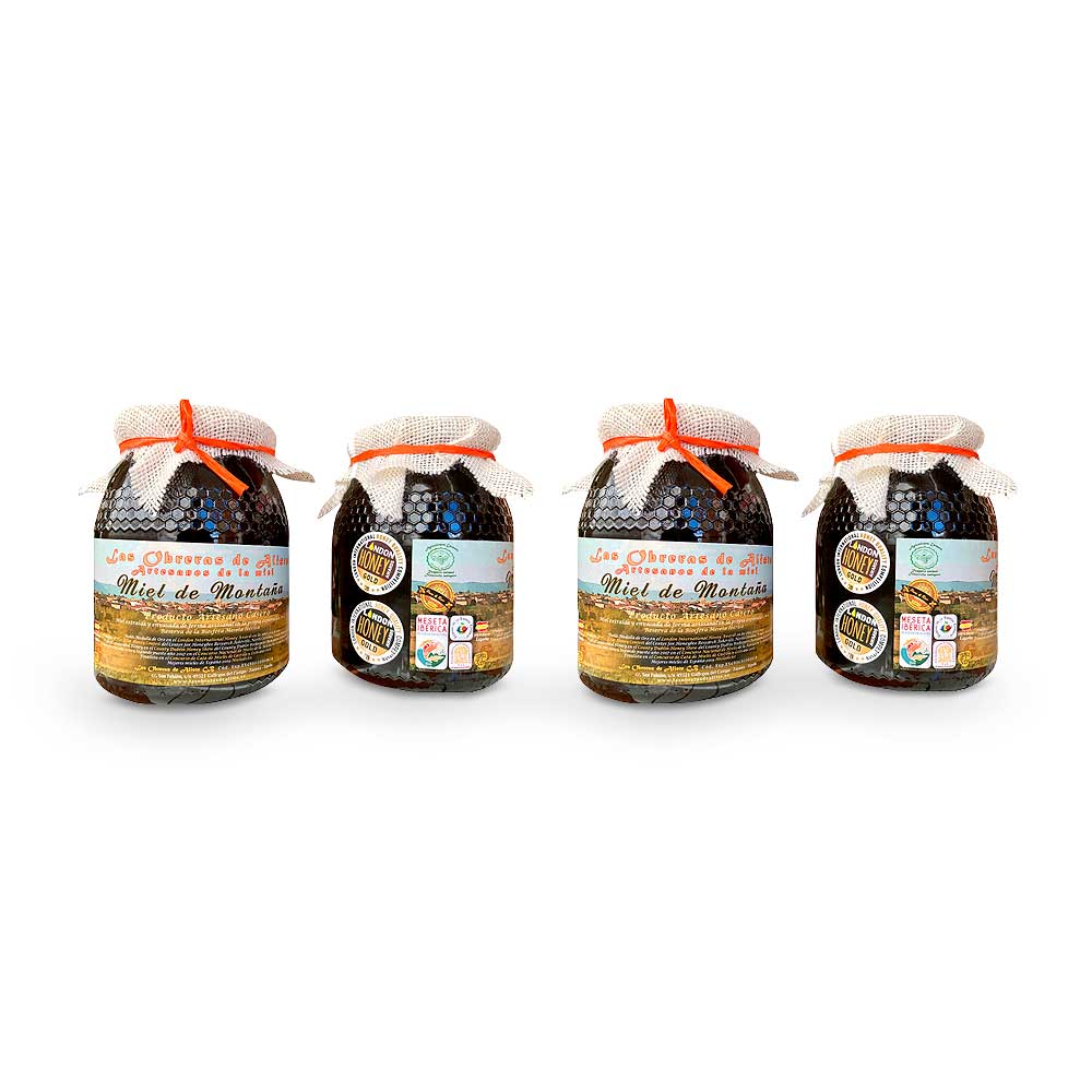 Miel de Montaña Las Obreras de Aliste 4 Botes de 1 kg