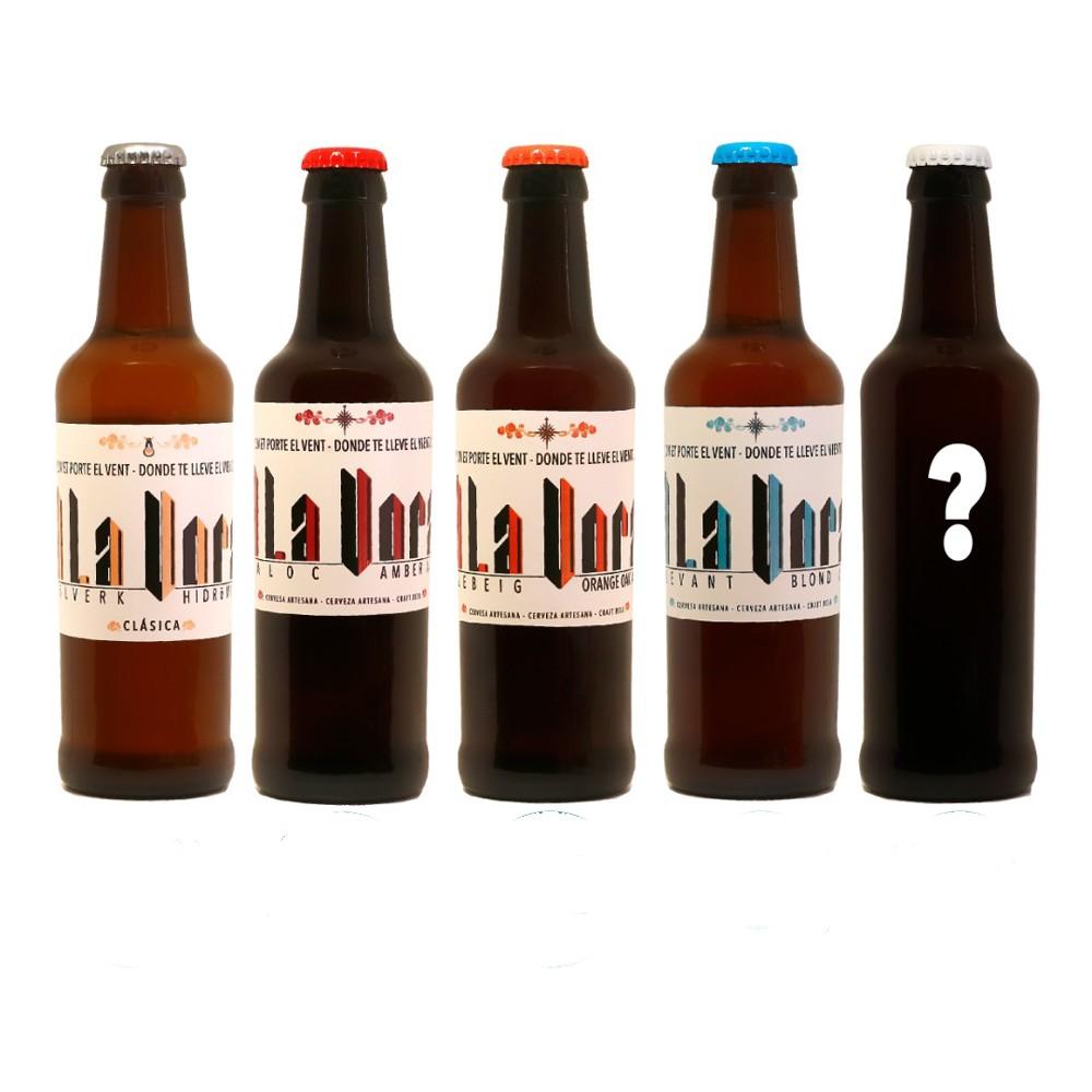 Caja degustación L 6 botellas de 33cl, A La Vora