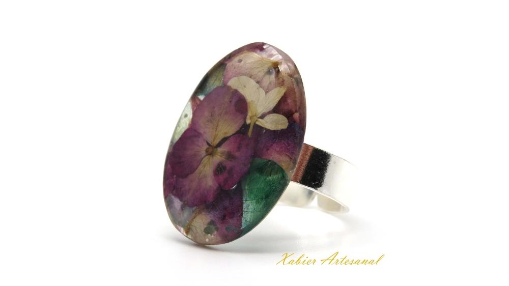 Anillo flor Purple 1